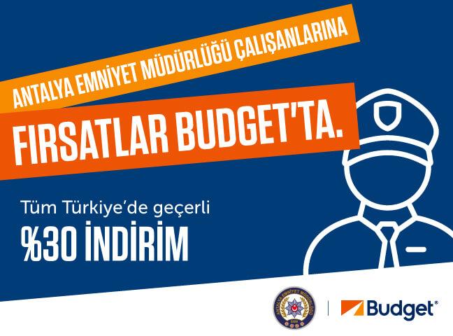 Antalya Emniyet Müdürlüğü Çalışanları Budget Kampanyası