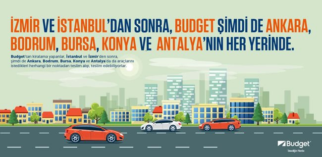 <strong>Budget İstediğin Yerde</strong><br /> <br /> Bulunduğun noktada bir kiralama ofisi bulamadın, veya zamanın mı yok ? Merak etme, Budget İstediğin Yerde.<br /> Budget İstediğin Yerde hizmeti ile Budget, İstanbul, Bursa, İzmir, Ankara, Antalya ve Konya&#39;nın<br /> Budget İstediğin Yerde hizmeti ile Budget&rsquo;ten araç kiralayanlar İstanbul, Bursa, İzmir, Ankara, Antalya ve Konya&#39;da araçlarını arzu ettikleri noktadan teslim alıp, diledikleri yerde teslim edebiliyorlar.<br /> <br /> Budget İstediğin Yerde ile Budget artık dilediğin yere geliyor.<br /> Yapman gereken sadece Budget İstediğin Yerde ile araç kiralamak.<br /> Budget İstediğin Yerde hizmeti ile aracın istediğin yerde sana teslim edilir, arzu ettiğin noktadan teslim alınır. Sana aracın keyfini sürmek kalır.<br /> Budget konforunu ve prestijini istediğin yerde yaşayabilmek için hemen&nbsp;<strong>444 4 722</strong>&nbsp;no&rsquo;lu Rezervasyon Merkezimizi arayarak talebini oluşturabilirsin.<br /> Keyifli seyahatler!<br /> <br /> <strong>Budget İstediğin Yerde kiralama koşulları;</strong>  <ul> <li>Budget genel kiralama koşulları geçerlidir.</li> <li>Adres kutuları içerisine müşterilerin beyan ettiği açık adres girilmelidir (ev ya da iş yeri adresi olması zorunludur).</li> <li>Araç teslimatları sadece çalışma saatleri içerisinde gerçekleştirilir.</li> <li>Rezervasyon sonrası kiralama gerçekleşmeden en geç 3 saat öncesine kadar, rezervasyon merkezi aranarak adres bilgileri güncellenebilir.</li> <li>Budget İstediğin Yerde ile çalışma saatleri içerisinde olmak koşuluyla 3 saat öncesinde rezervasyon yapılabilir.</li> <li>Teslim edilecek araçlar park alanlarımızdan dolu yakıt ile çıkar. Araç, teslim edilen yakıt seviyesiyle iade alınır.</li> </ul> <strong>Olası gecikmeler durumunda;</strong>  <ul> <li>Olası gecikme durumlarında Çağrı Merkezimize 3 saat öncesinde bilgi verilmesi gerekmektedir.</li> <li>1 saati aşan gecikmelerde veya gecikmeye ilişkin zamanında bilgi verilmediği durumlarda geçerli gün ar